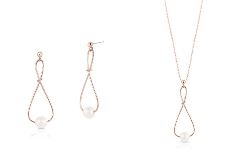 Kolczyki z perłą SJP/KP016R (129 zł) | Naszyjnik z perłą SJP/NP016R (149 zł) /materiały promocyjne