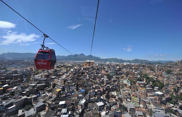 Kolej linowa (teleferico) w La Paz, stolicy Boliwii /AFP