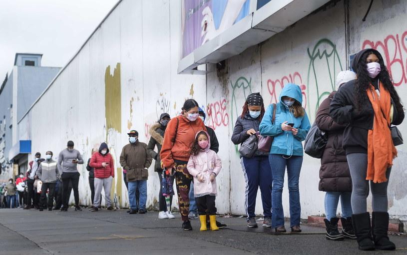 Kolejki do głosowania w Nowym Jorku /JUSTIN LANE /PAP/EPA