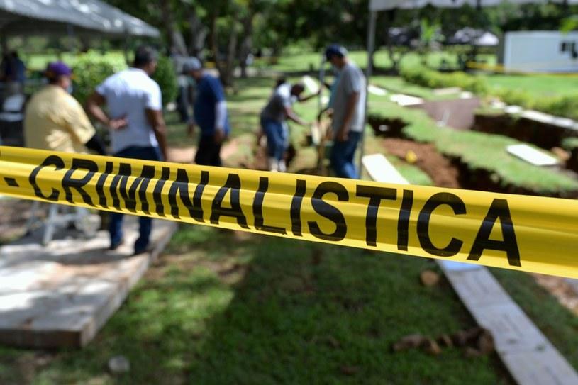Kolejna masowa mogiła w panamskiej dżungli. Prawdopodobnie spoczęły w niej ofiary sekty /Luis Acosta /AFP