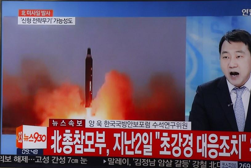 Kolejna próba rakietowa Korei Północnej /KIM HEE-CHUL /PAP/EPA