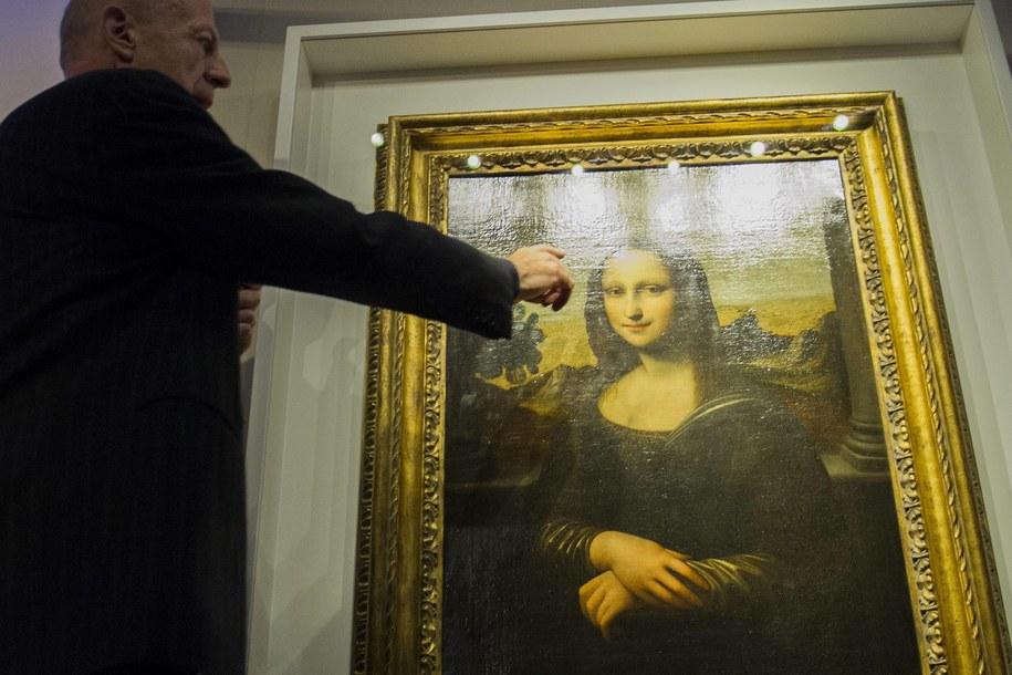 Kolejne, słynne dzieło Leonarda da Vinci /YANNICK BAILLY /PAP/EPA