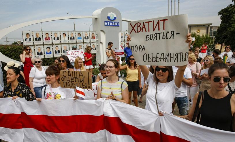 Kolejny dzień protestów na Białorusi //TATIANA ZENKOVICH /PAP/EPA