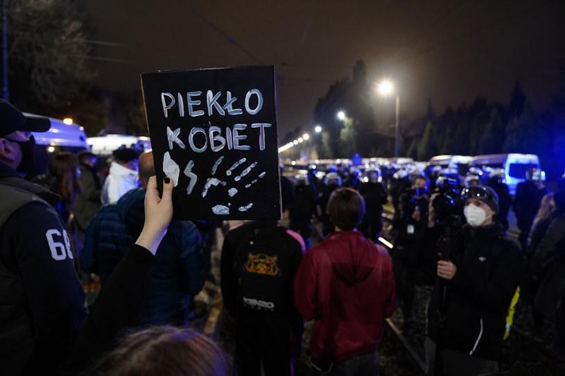 Kolejny dzień protestów po wyroku TK ws. aborcji /Mateusz Wlodarczyk /Agencja FORUM