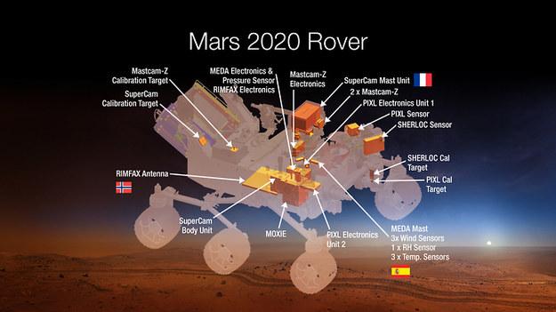Kolejny łazik ma wylądować na Czerwonej Planecie w 2021 r. /NASA