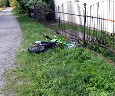 Kolejny wypadek dziecka na motocyklu crossowym