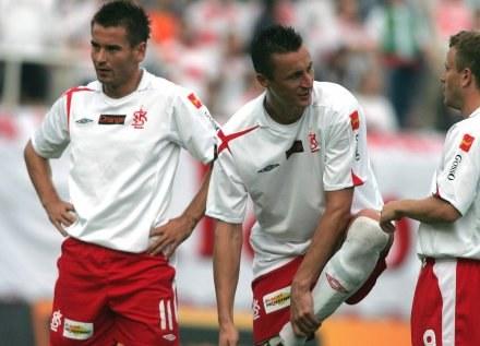 Kolendowicz (z lewej) nie rozumie zachowania Hajty /Agencja Przegląd Sportowy