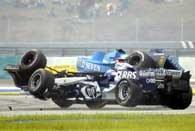 Kolizja Fisichelli z Webberem wyeliminowała obu kierowców /AFP