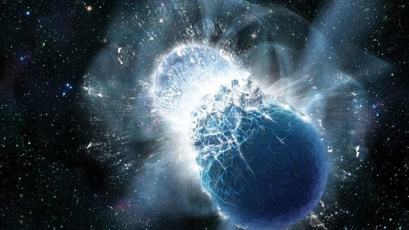 Kolizja gwiazd neutronowych prowadzi do powstania nowej gwiazdy, jeszcze masywniejszej /NASA