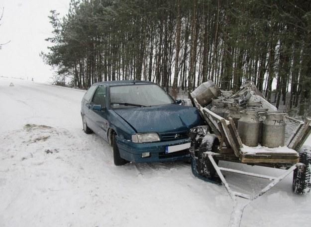 Kolizja na drodze /KWP Białystok