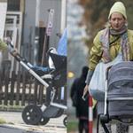 Kolorowa Magda Popławska na pierwszym spacerze z córką!