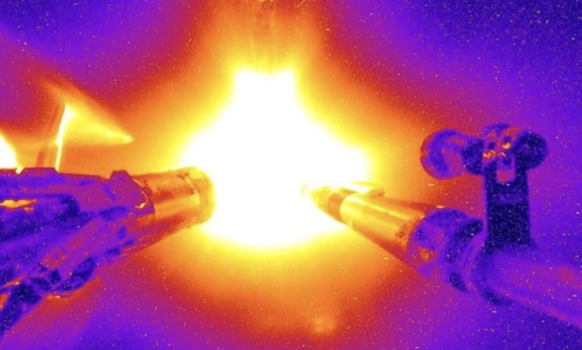 Kolorowane zdjęcie eksperymentu z National Ignition facility z 2016 r. /materiały prasowe