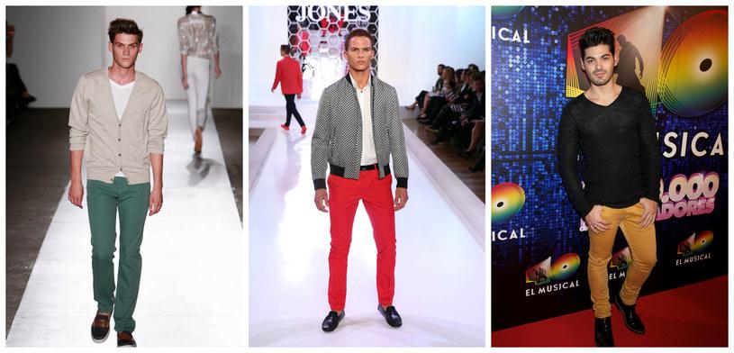 Kolorowych spodni nie musisz chować do szafy /Getty Images/Flash Press Media