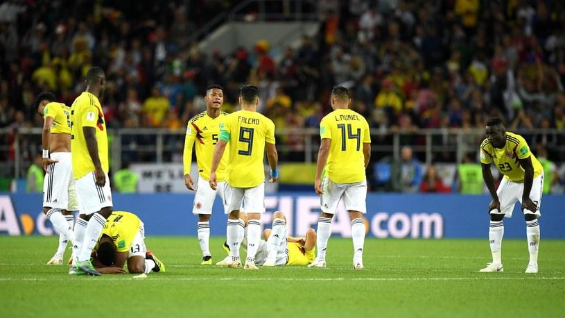 Kolumbijscy piłkarze po porażce z Anglią /Getty Images