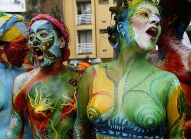 Kolumbijskie kobiety podczas obchodów Dnia Kobiet /AFP