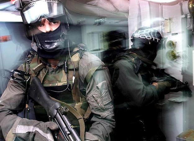 Komandosi Navy SEAL podczas ćwiczeń abordażu /AFP