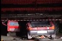 Kombajn obciął samochód na lini okien /