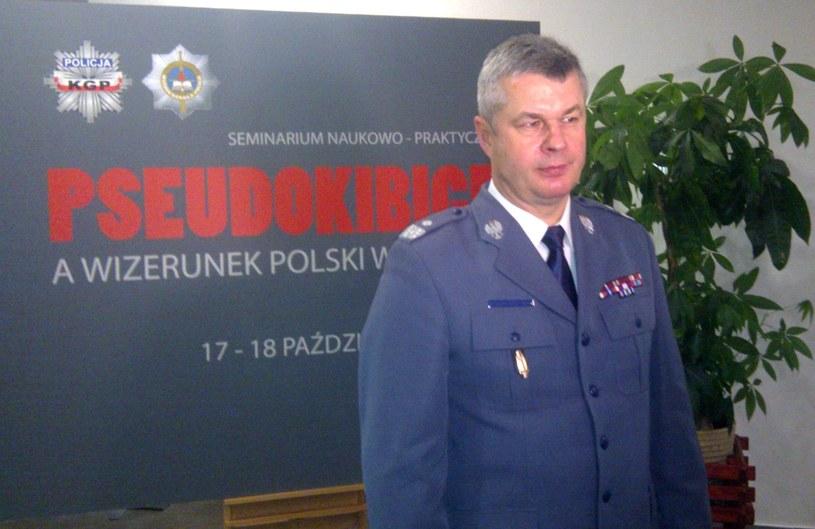Komendant główny policji Marek Działoszyński. /Michał Białoński /INTERIA.PL