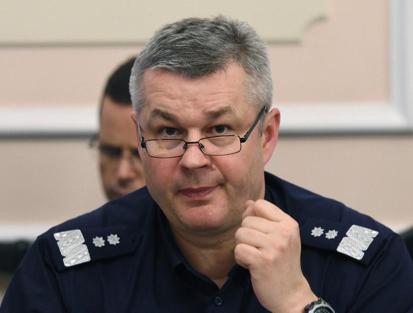 Komendant Główny Policji Marek Działoszyński /Radek  Pietruszka /PAP