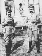 Komendant Józef Piłsudski i szef sztabu Kazimierz Sosnkowski /Encyklopedia Internautica