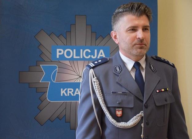 Komendant Miejski Policji w Krakowie Zbigniew Nowak /KWP w Krakowie  /