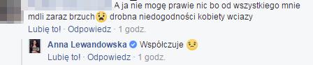 Komentarz Anny Lewandowskiej/Facebook /&nbsp