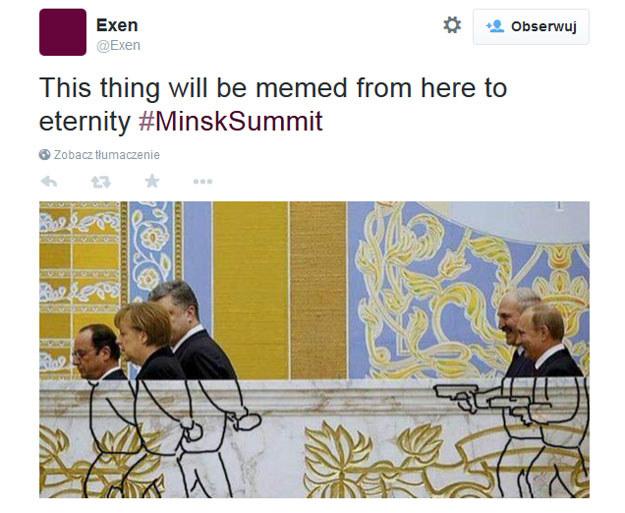 Komentarz do zawartego w Mińsku porozumienia /Twitter