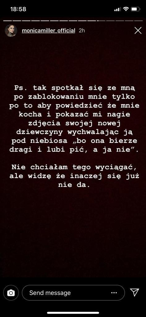 Komentarz Moniki /Instagram