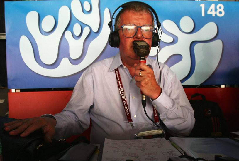 Komentator BBC. Fot. Clive Rose /Getty Images