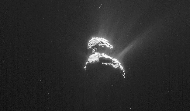 Kometa 67P/Czuriumow-Gierasimienko. Fot. ESA /materiały prasowe