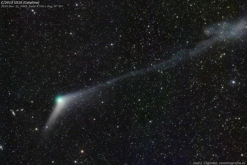 Kometa Catalina (C/2013 US10). Źródło: José J. Chambó /Kosmonauta