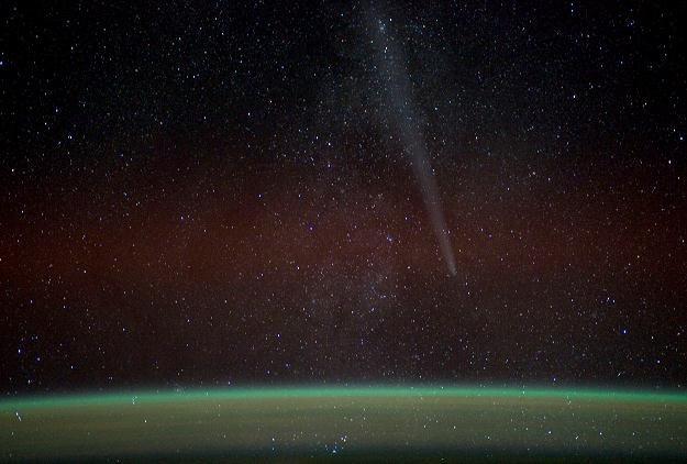 Kometa Lovejoy na zdjęciu z Międzynarodowej Stacji Kosmicznej, 27 grudnia 2011 /AFP