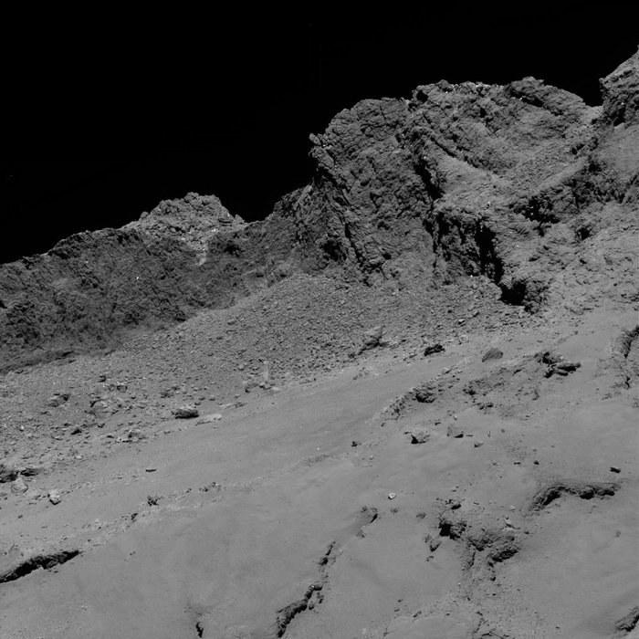 Kometa widziana z odległości 16 km; zdjęcie wykonane przez Rosettę /ESA /