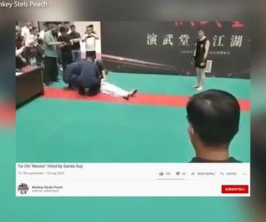 """Komiczna walka w Chinach. """"Mistrz"""" kung fu znokautowany w 30 sekund. Wideo"""