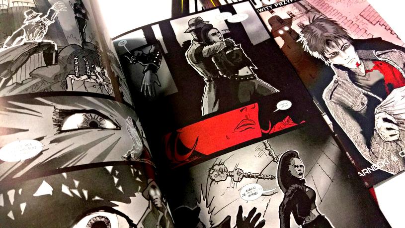 Komiks jest czarno-biały. Kolor - najwczęściej czerwony - pojawia się od wielkiego dzwonu /INTERIA.PL