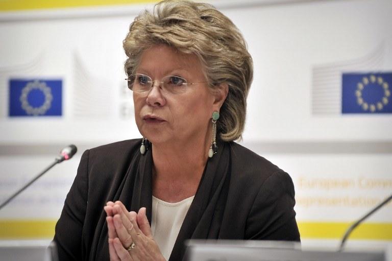 Komisarz ds. sprawiedliwości Viviane Reding /AFP
