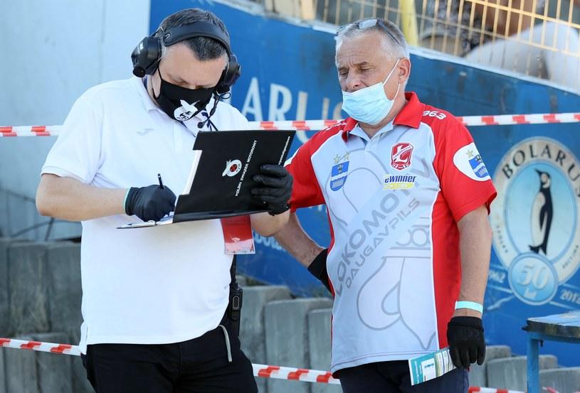 Komisarz toru Tomasz Welc i trener Nikołaj Kokin /Paweł Wilczyński /Newspix