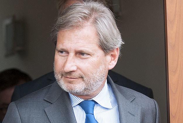 Komisarz UE ds. polityki sąsiedzkiej Johannes Hahn /AFP
