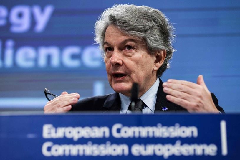 Komisarz UE ds. rynku wewnętrznego Thierry Breton /KENZO TRIBOUILLARD /AFP