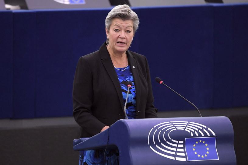 Komisarz UE ds. wewnętrznych Ylva Johansson /PAP/EPA/FREDERICK FLORIN / POOL /PAP
