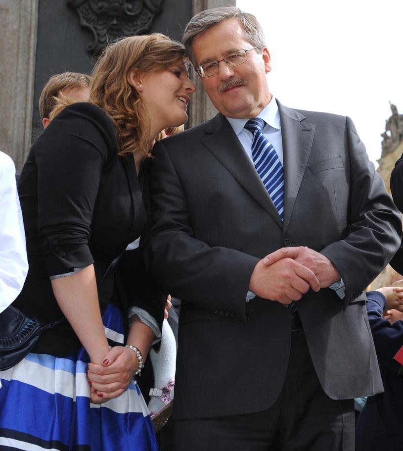 Komorowski z córką Elą /Bartosz Krupa /East News