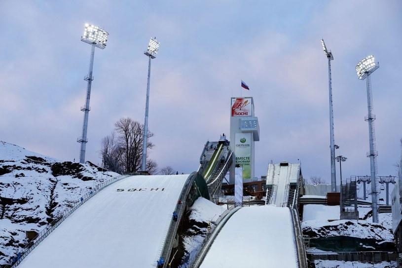 Kompleks skoczni narciarskich w Soczi /PAP/EPA