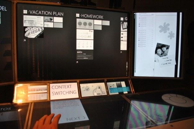Komputer przyszłości - kilka ekranów dotykowych i wykonywanie kilku czynności jednocześnie /INTERIA.PL