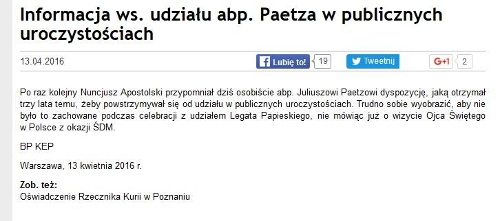 Komunikat KEP /episkopat.pl /