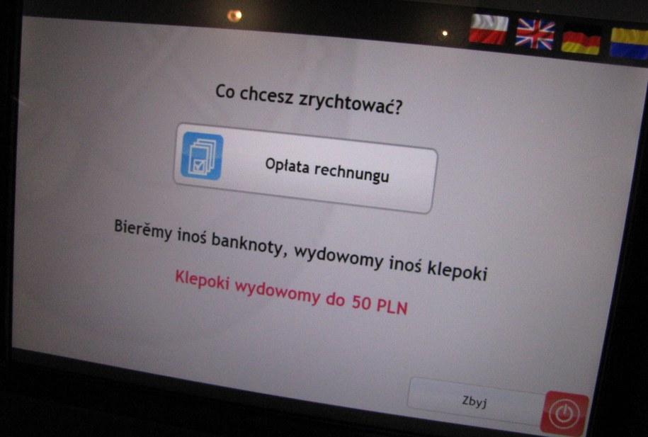 Komunikat niecodziennego opłatomatu /Anna Kropaczek /RMF FM