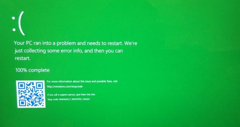 Komunikat z błędem w Windows 10 zmienia kolor? Tak, ale tylko w testowej wersji Fiot. @Chris123NT (Twitter) /Internet