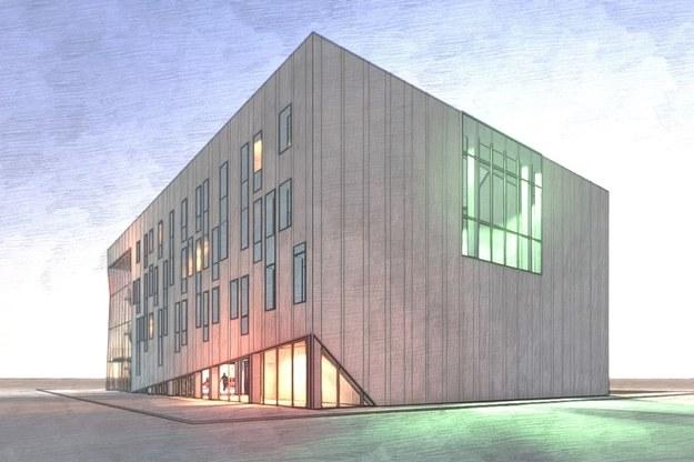 Koncepcja elewacji budynku Sceny Stolarnia. Autor: dr inż. arch. Romuald Loegler, Atelier Loegler Architekci Sp. z o.o. /