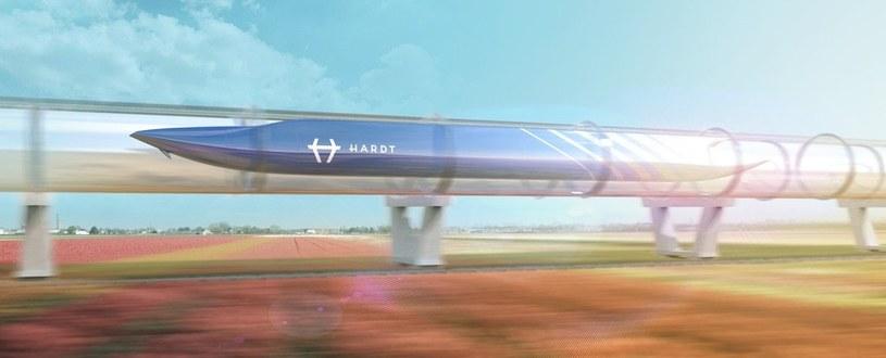 Koncept kapsuły Hyperloop według projektantów Hardt /materiały prasowe