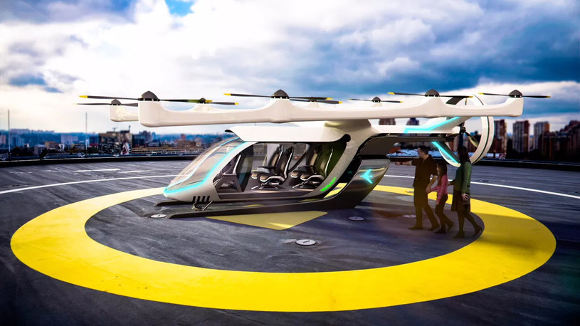 Koncept latającej taksówki marki Embraer /materiały prasowe