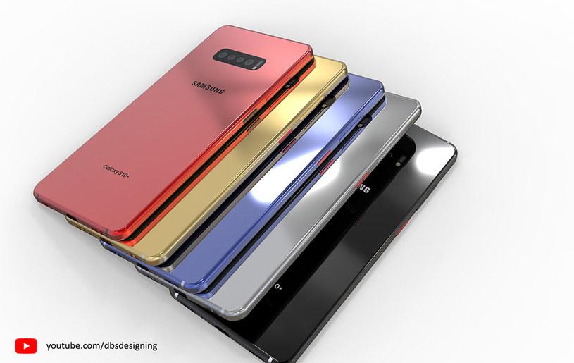 Koncept Samsunga Galaxy S10 i S10+ / fot. DBSDesigning /materiał zewnętrzny